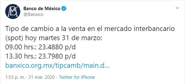 Banco de México (Foto: Twitter@Banxico)