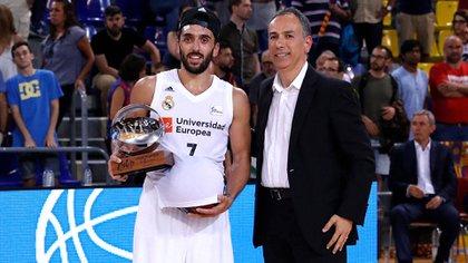 Facundo Campazzo es la gran figura del Real Madrid, pero sueña con jugar en la NBA (@RMBaloncesto)