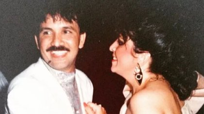 Rafael Orozco con su esposa Clara Cabello.