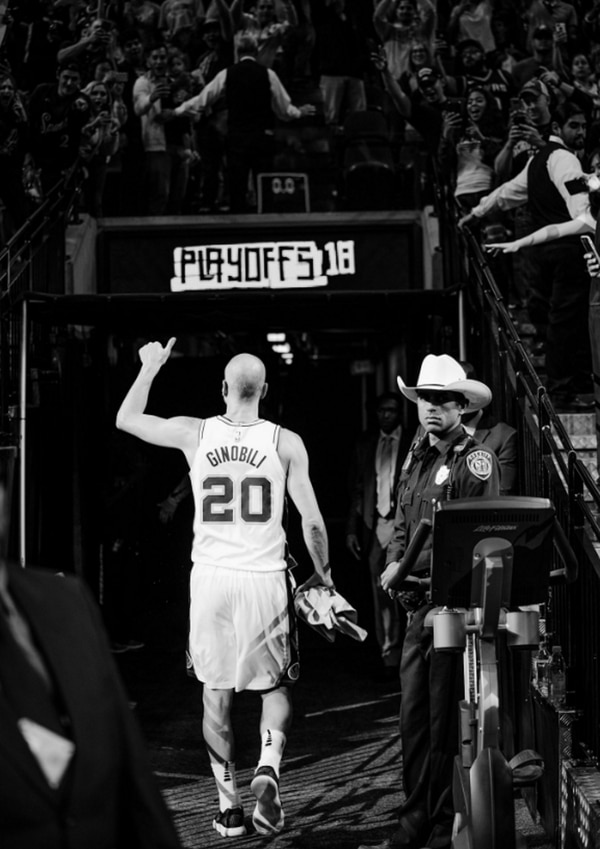 """Quiero hacer un poco de vida familiar"", dijo Ginóbili tras la derrota con Golden State (@Spurs)"