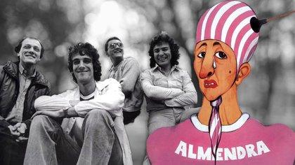 Spinetta en el centro, García a la derecha: Almendra