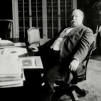 William Taft no seu escritorio na Casa Branca en 1910 (foto: Everett /)