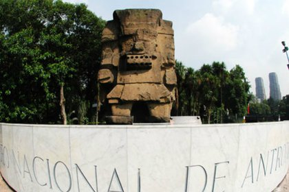 Desde hace más de 50 años, Tláloc da la bienvenida a los visitantes al Museo de Antropología (Foto: inah.gob.mx)