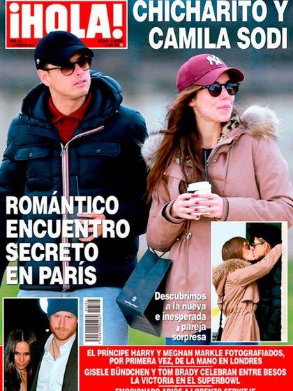 """Camila Sodi y el """"Chicharito"""" fueron captados en una cita romántica en París"""