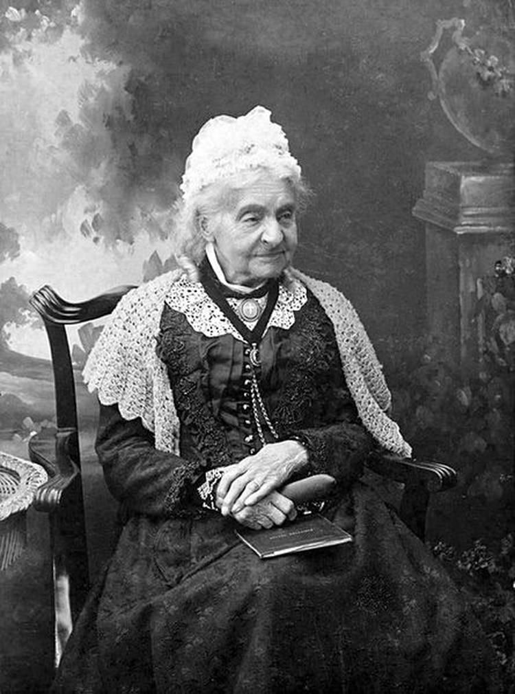 Margaret Neve en 1902, a la edad de 109 años
