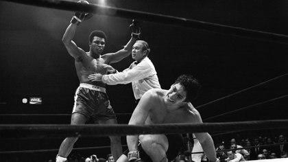 Para recuperar el título perdido, Alí se enfrentó a duras batallas, entre ellas, donde derrotó a Ringo Bonavena luego de una áspera evolución del combate.