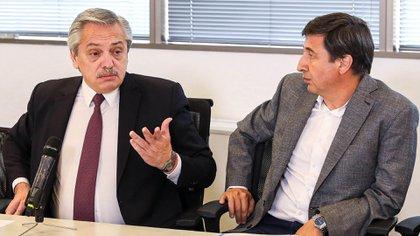 Alberto Fernández y Daniel Arroyo (foto NA)