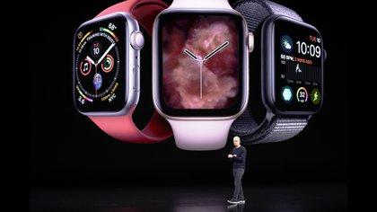 El nuevo Apple Watch tiene pantalla Retina Always On (AP Photo/Tony Avelar)