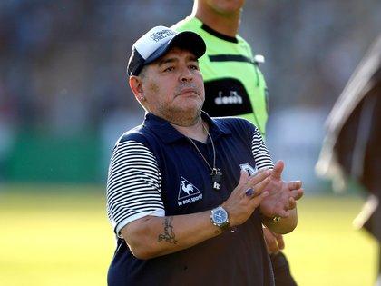 En la imagen, el entrenador argentino Diego Armando Maradona. EFE/Demian Alday Estévez/Archivo