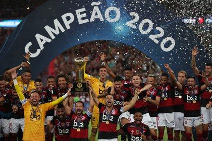Flamengo obtuvo la primera Recopa Sudamericana de su historia (REUTERS/Ricardo Moraes)