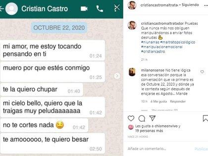 En esta red social se expusieron varios testimonios sobre el modus operandi de Cristian Castro. (Foto: Instagram)