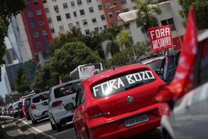 Manifestación contra Bolsonaro en Río de Janeiro, Brasil. REUTERS/Ricardo Moraes