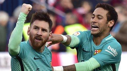 Neymar rechazó al Real Madrid para jugar con Lionel Messi (AFP)
