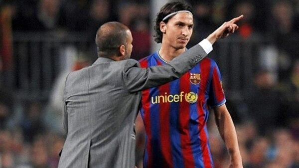 Con Zlatan tuvo una relación con ribetes polémicos