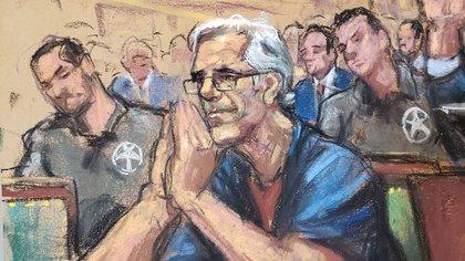 Jeffrey-Epstein en la corte federal en Nueva York
