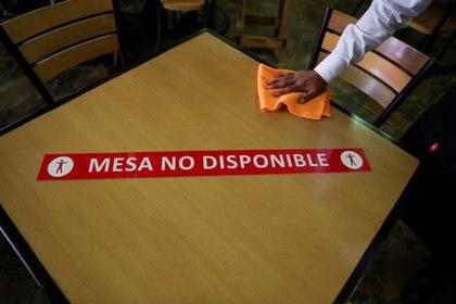 La Canirac presentó un Protocolo de Reapertura para restaurentes: Mesa segura. Foto: REUTERS/Henry Romero