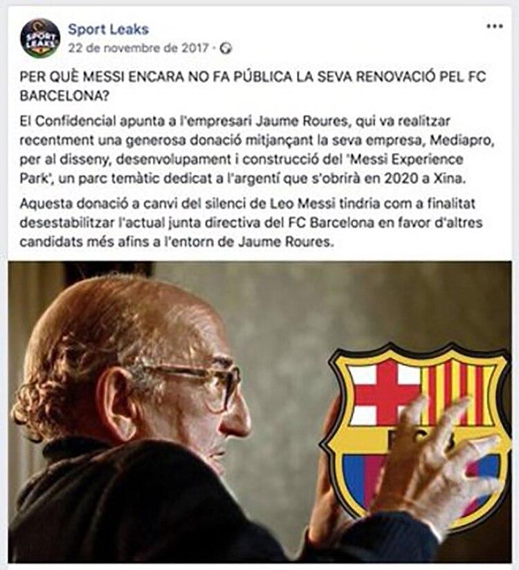 La fake news de Messi en catalán