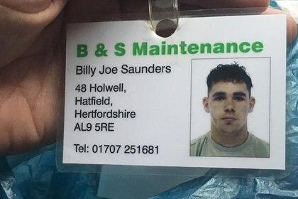 Credencial como personal de mantenimiento de Billy Joe Saunders en Inglaterra (Foto: Instagram/@saundersbillyjoe)