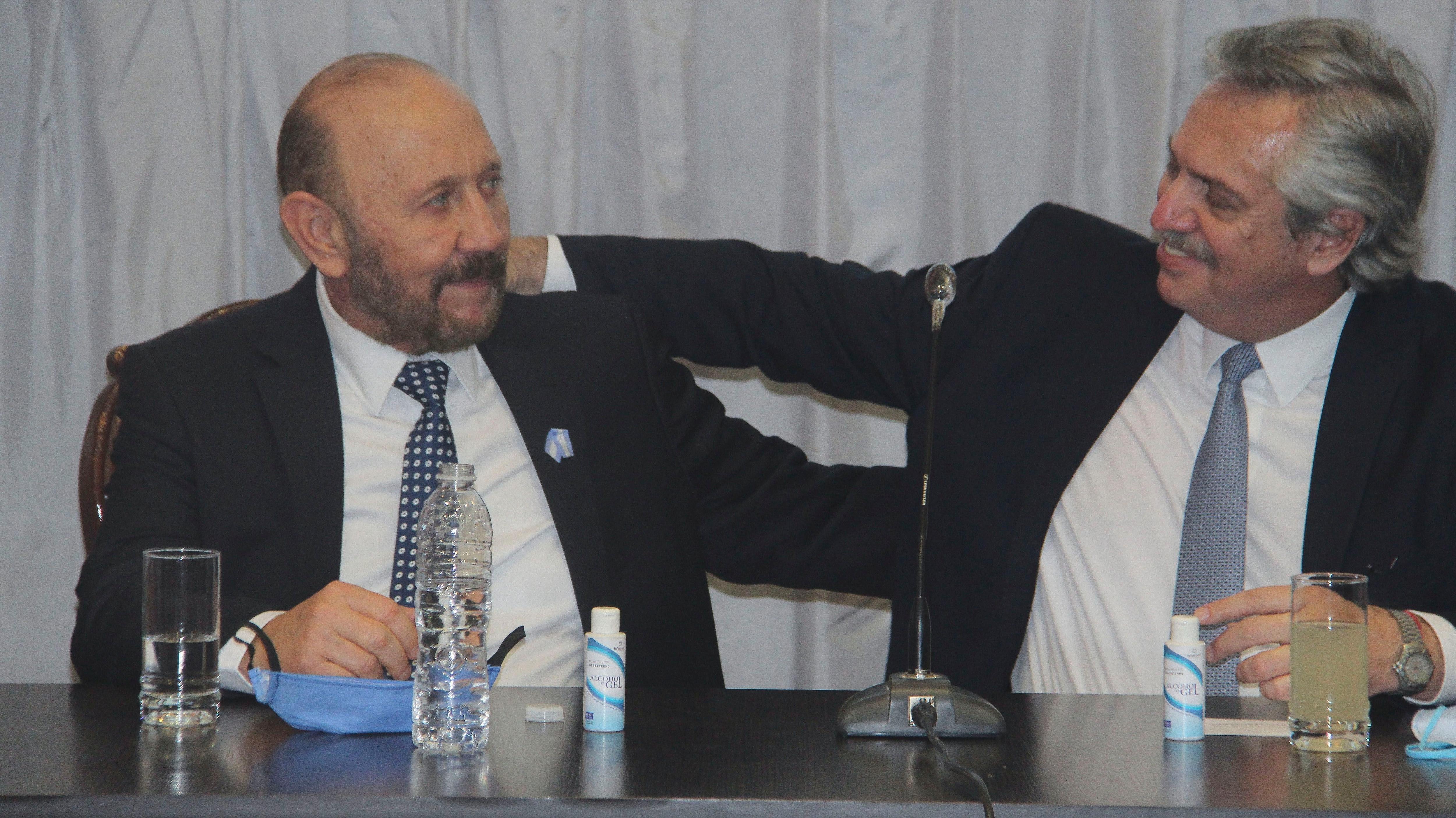 El presidente, Alberto Fernández, junto al gobernador formoseño, Gildo Insfrán