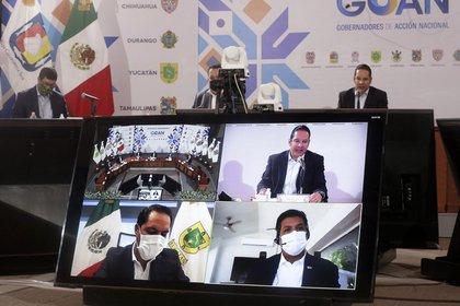 Los gobernadores de oposición buscan apoyo del gobierno para enfrentar la contingencia sanitaria (Foto: Twitter @GOAN_MX)