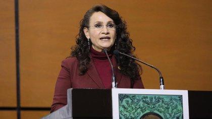 Padierna, esposa del polémico René Bejarano, será la candidata de Morena a la alcaldía Cuauhtémoc en la Ciudad de México (Foto: Twitter @Dolores_PL)