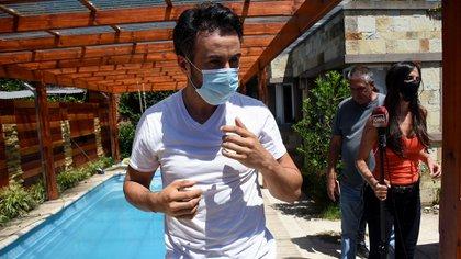 El médico Luque tras ser allanado (Nicolás Stulberg)