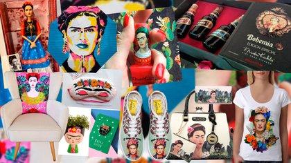 El rostro de Frida aparece en un sinfín de productos