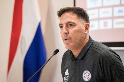 En la imagen el seleccionador de Paraguay, Eduardo Berizzo. EFE /Nathalia Aguilar /Archivo