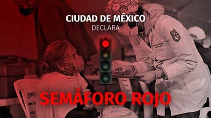 Se decreta semáforo rojo en el Valle de México.  (Foto: Jovani Pérez SIlva/Infobae México)