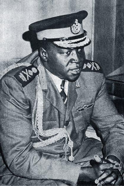 """Amin en 1973, conocido como """"Carnicero de Uganda,"""" es considerado uno de los déspotas más crueles de la historia africana.  (Wikipedia)"""