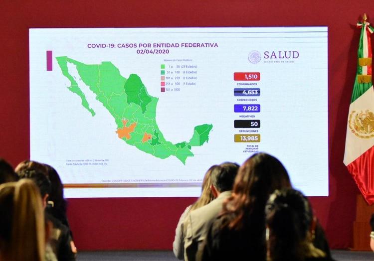 El gobierno mexicano ofrece una conferencia diaria con las actualizaciones más recientes del avance del coronavirus (Foto: Cortesía)