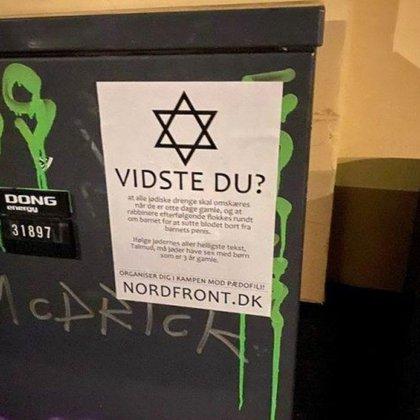 Uno de los cárteles antisemitas de la campaña del MRN en Dinarmarca (Facebook)