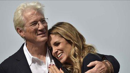Richard Gere y Alejandra Siva esperan su primer hijo juntos (AP Photo/Alvaro Barrientos)