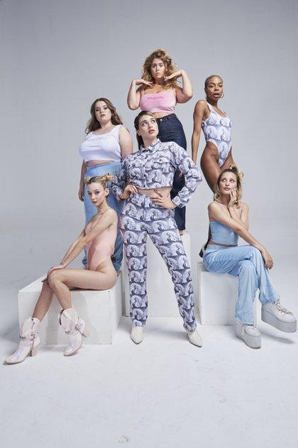 Azu Weiz, Robertina, Bren Kohan, Mica Kastan, Sofia Klimkowski y Marioska Fabián Nuñez, los integrantes de la foto. Los modelos elegidos para la campaña   (Foto: Phresh.x)