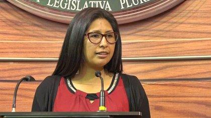 07/03/2020 Eva Copa (MAS), presidenta del Senado de Bolivia POLITICA SUDAMÉRICA BOLIVIA SENADO BOLIVIA