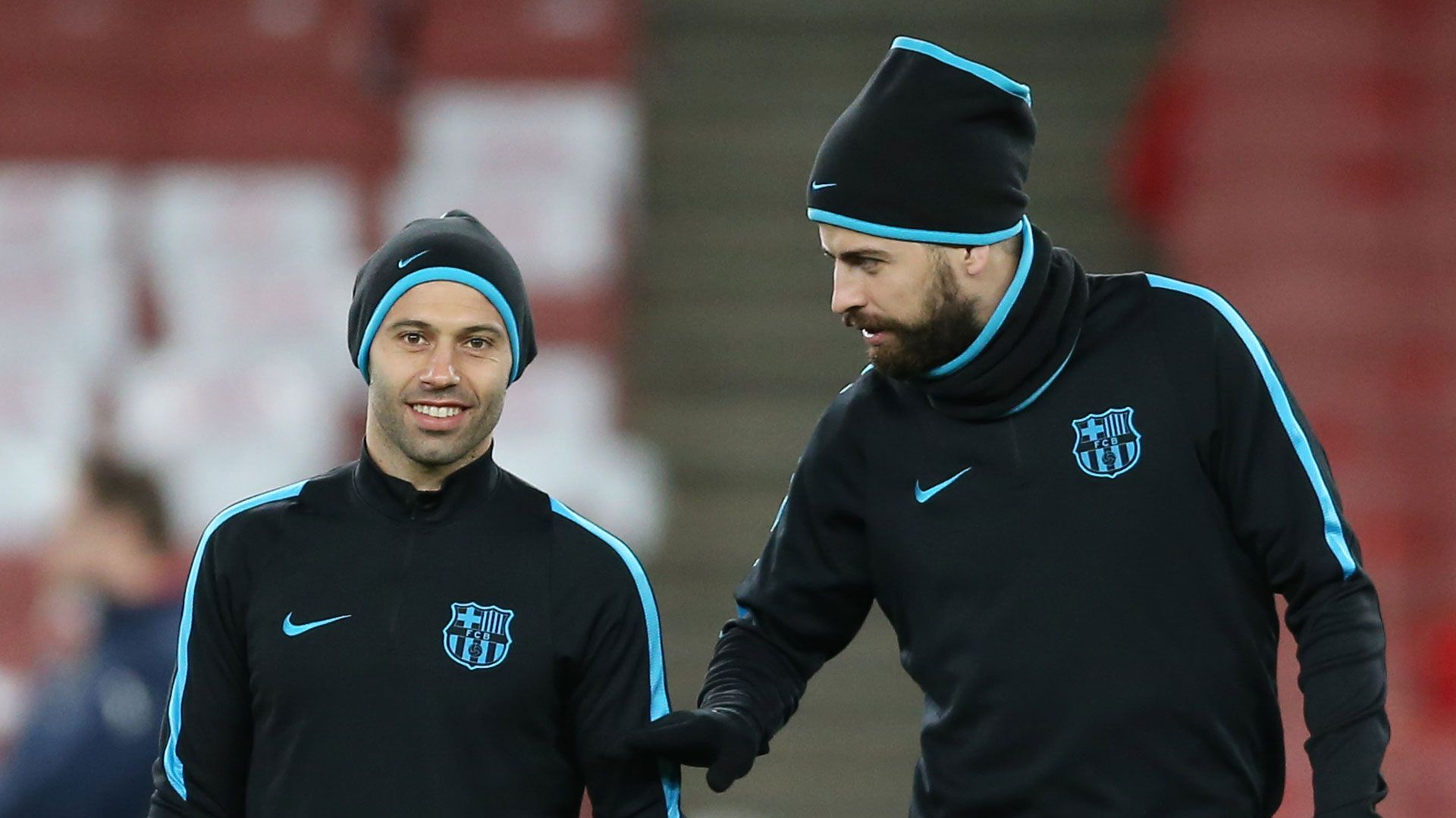 Mascherano y Piqué, en su etapa de compañeros en el Barcelona