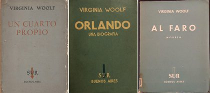 Los tres primeros libros publicados por Sur de Virginia Woolf