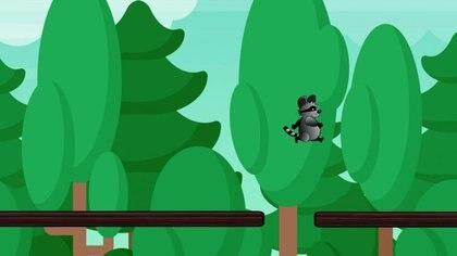 En el videojuego, tiene que impedir caer en los huecos que se irá encontrando.