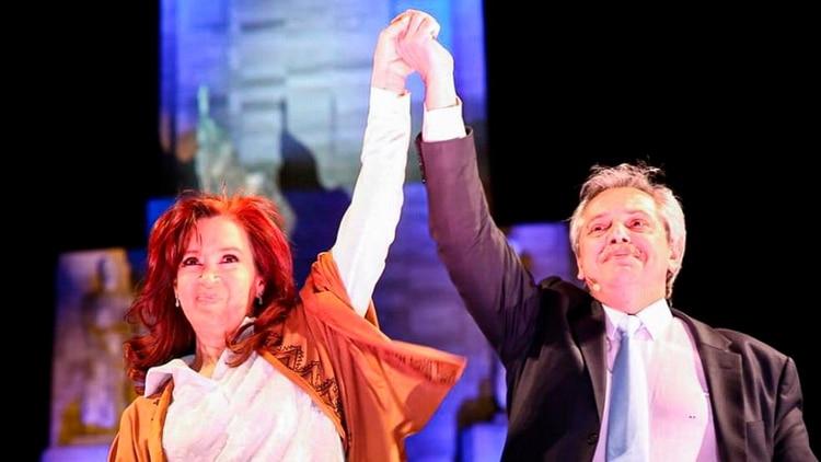 Cristina Kirchner y Alberto Fernández, la fórmula del Frente de Todos