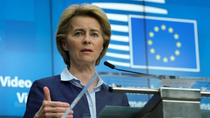La titular de la Comisión, Ursula von der Leyen, enfrenta su mayor reto desde su llegada al cargo en diciembre (Olivier Hoslet via REUTERS/foto de archivo)