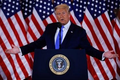"""Trump denunció fraude en """"todos los recientes estados"""" ganados por Biden (REUTERS/Carlos Barria)"""