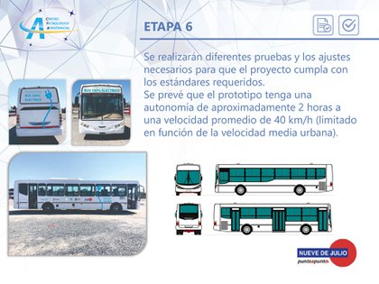 La Empresa Nueve de Julio SAT donará el bus para que la UNLP le brinde la propulsión eléctrica alimentada con baterías de litio (UNLP)