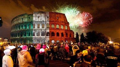 La proyección del artista Gerry Hofstetter en el Coliseo