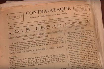 Lista negra conservada en el Archivo General de la Nación. (GPS noticias UNO)