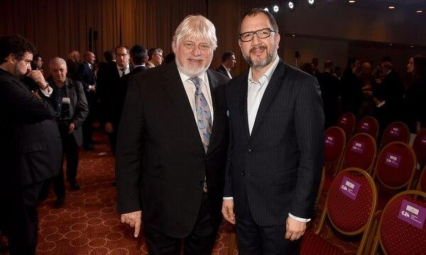 Adrián Werthein y el secretario de gobierno bonaerense,Adrián Perechodnik
