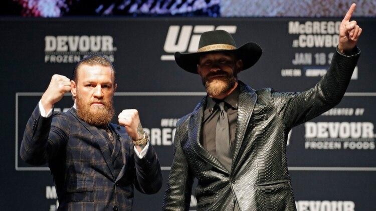 McGregor vuelve a pelear tras la caída ante Khabib en octubre de 2018 y Cerrone llega con cuatro combates disputados en 2019 (AP)