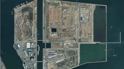 Un plano desde arriba en dónde se puede ver el territorio completo del lugar del proyecto.