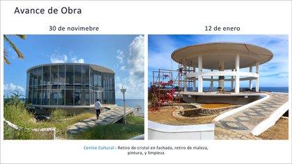 Por medio de imágenes, AMLO mostró los avances en los trabajos de las Islas Marías (Foto: Twitter@lopezobrador_)