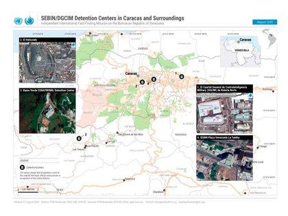 Boleíta Norte, El Helicoide, Ramo Verde y Plaza Venezuela (La Tumba), algunos de los centros de detención clandestinos del SEBIN y la DGCIM denunciados por la ONU