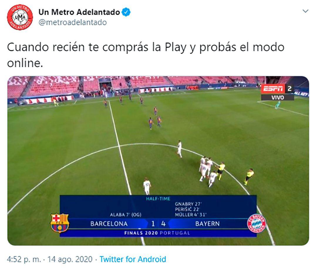 memes de Barcelona vs Bayern Munich